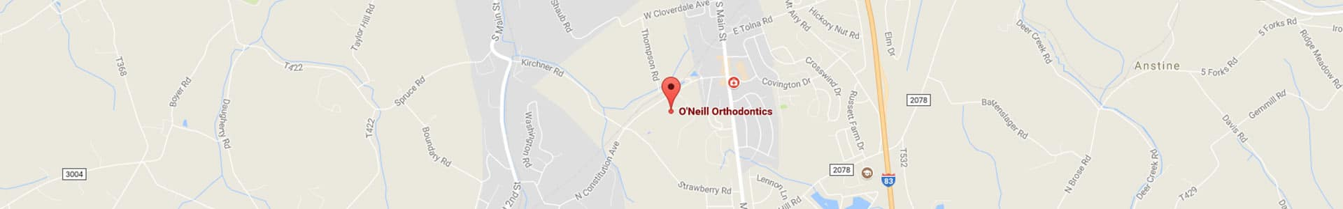 New Freedom Map 2 O'Neill Orthodontics New Freedom, PA